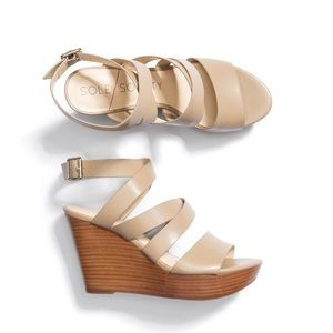 Sole Society Pippy Leather Wedge Sandals NEW